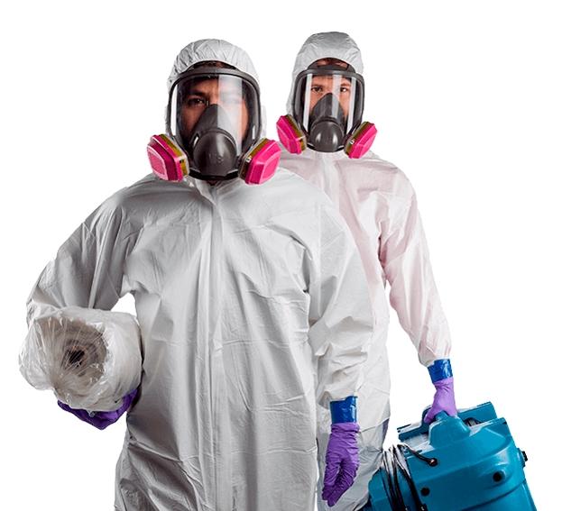 два дезинфектора в униформе